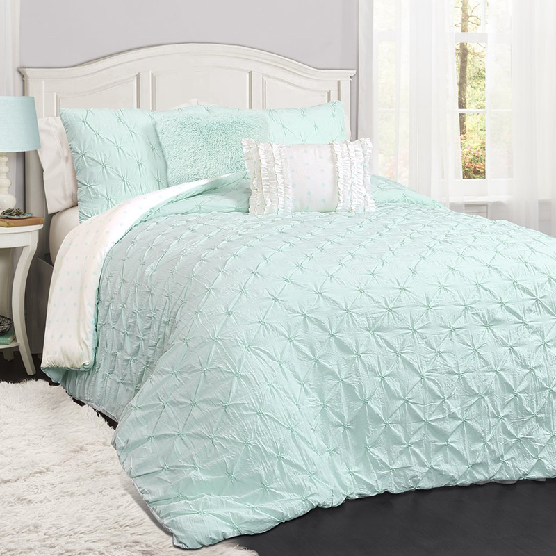 crinkle pintuck bedding set