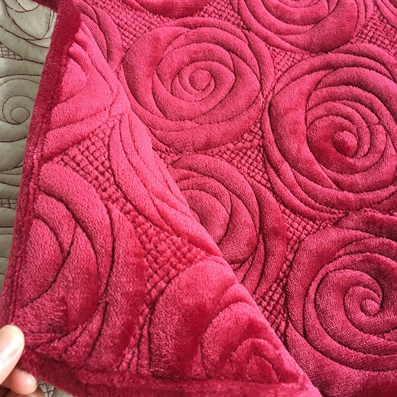 rose embroidery sofa cover