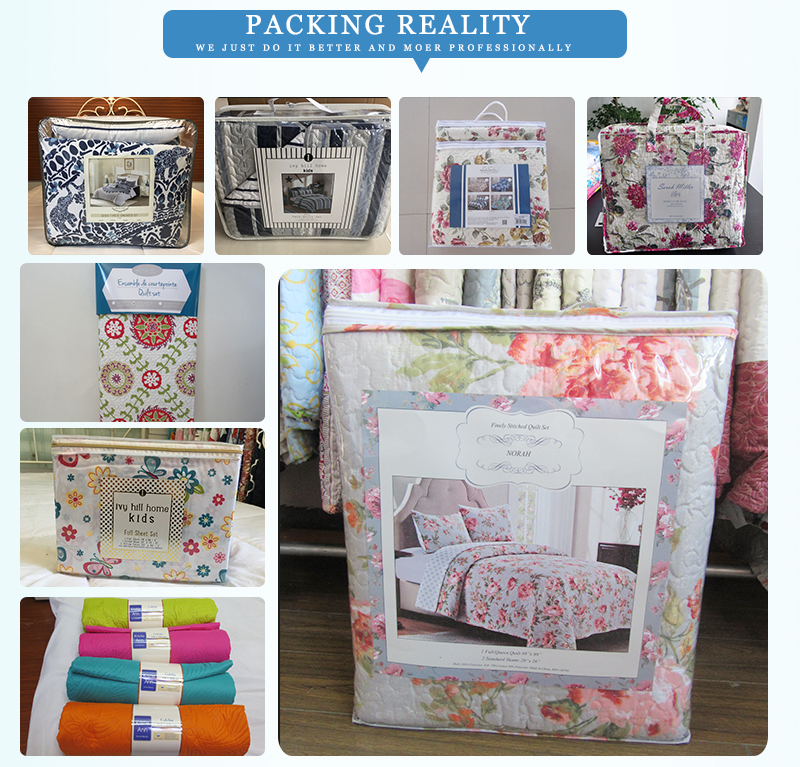China quilt and bedspread factory packing