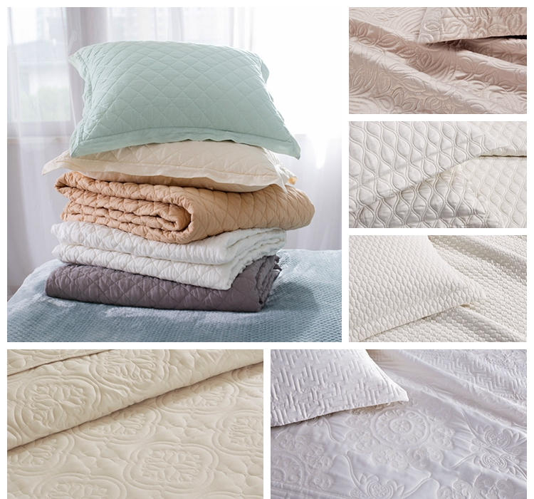 embroidered quilted bedspread
