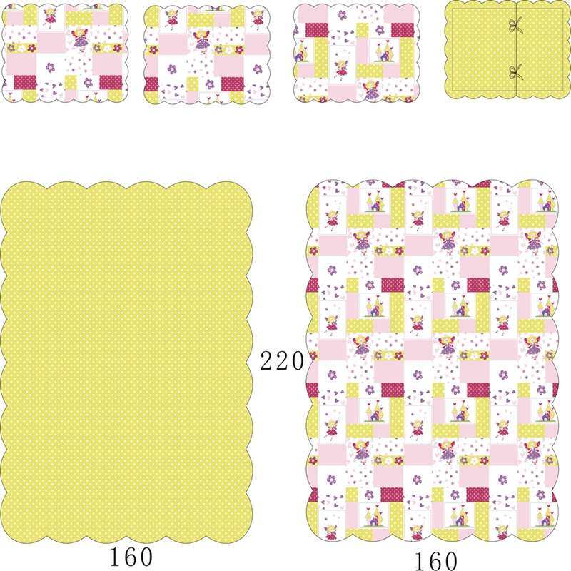 girl quilted bedspread