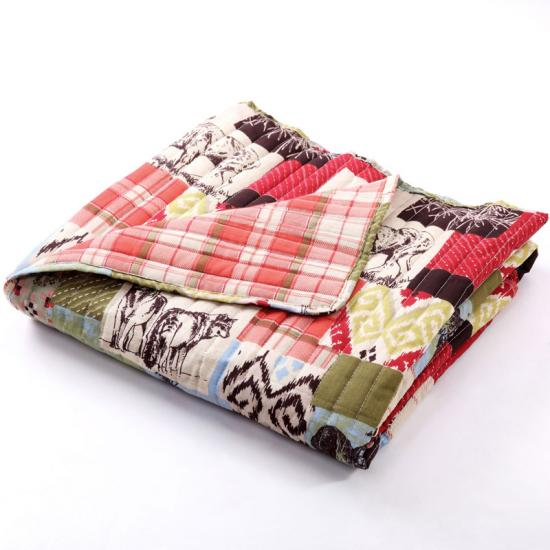 water wash quilting throw bedding