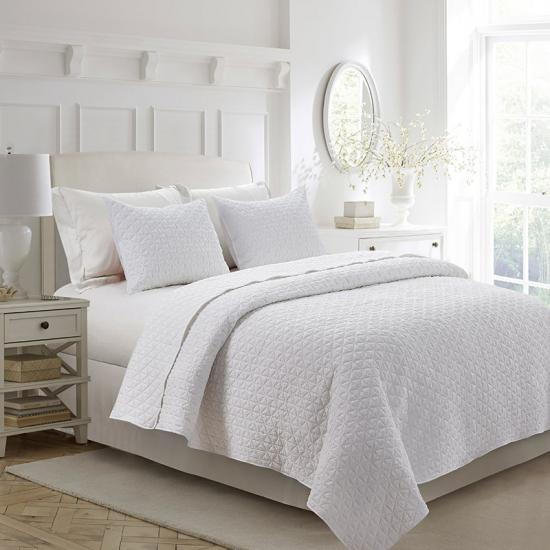 winkled quilt set | stone washed bedspread