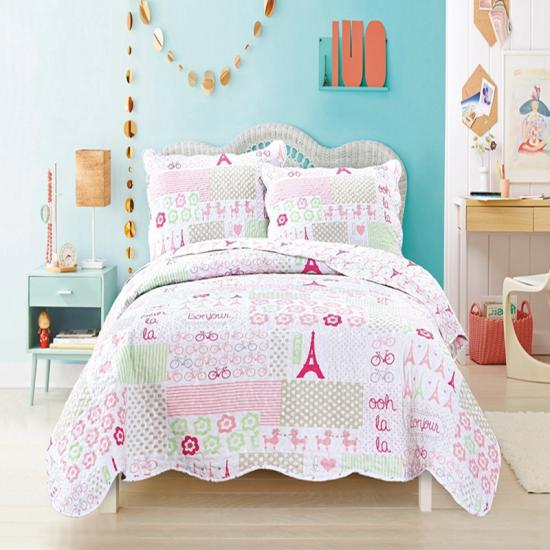 Girls Paris City of Love Bedding Collection