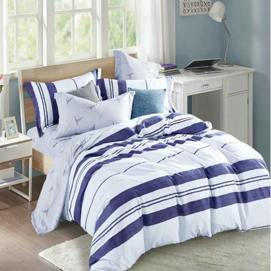 stripe printed duvet cover set